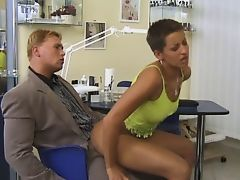 Short Hair Blonde Fucked by Policeman