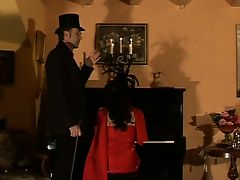 caned piano player