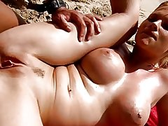 Tarra White fucked on the beach