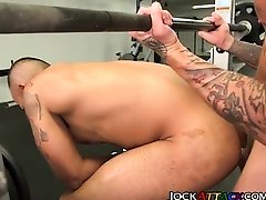 Fucking a jock in the gym