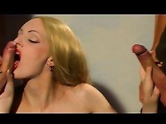 Sexy Blonde Gangbanged