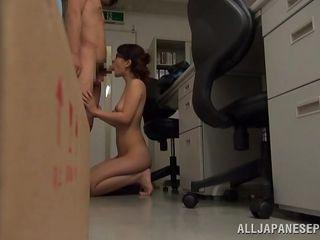 japanese slut fucking at work