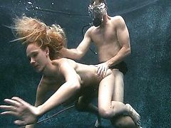levi and two hot in underwater