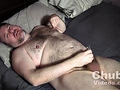 BondgBear Jerks His Pierced Cock
