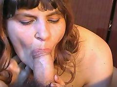 Russian charming amateur blowjob