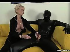 Dominant Granny In Black