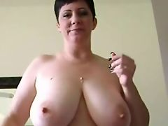 Sexy Shorthaired Curvy MILF Has Some Sexual Chocolate