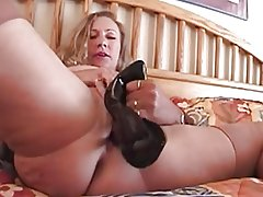 Fucll fashion stockings mature busty with high heel fetish