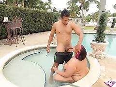 Mature BBW Sara Star Takes Big Cock Deep in Her Ass