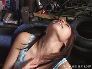 lovely japanese milf tastes cum