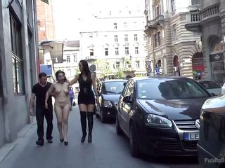 naked bitch gets disgraced publicly