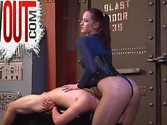 Hard Ballbusting For A Strap-on Slave FACE SITTING