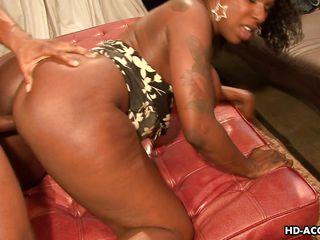 sexy ebony gets fucked hard and long