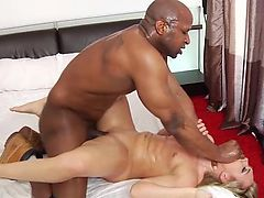 Blonde slut pounded hard by bbc squirting big