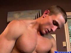 Throated gay spraying creamy cum on hunk