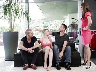 milf tina kay gets dp during orgy with blonde...