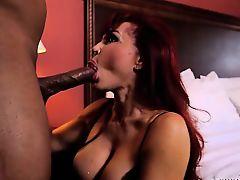 Latin MILF Sucks Black Cock- Sexy Vanessa