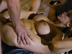 Bigtitted stepmom squirted with warm jizz