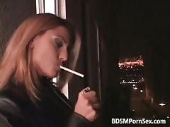 Brutal BDSM play with blonde babe whose part1