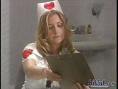 Avy plays naughty nurse