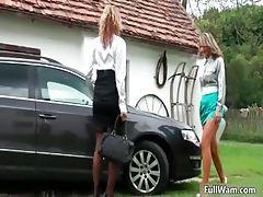 Busty lesbian girls get all wet part2