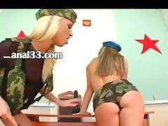 Army threesome and extreme butthole game