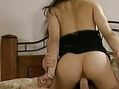 Asia Carrera rides her wet pussy on this hard dick