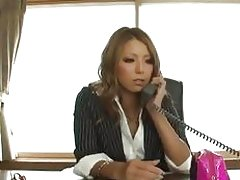 Asian office girl has a fuck filled day