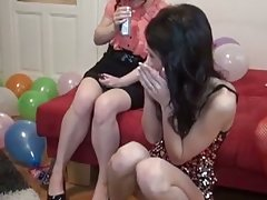 Hot group college sex at b-day party