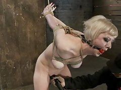 Sweet Blonde in Serious Bondage With Mean Cameltoe
