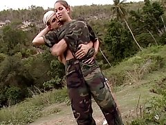 Hottest hardcore outdoor sex on the military mission