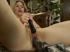 Stunning Babe Machine Fucked In Her Office