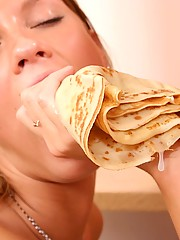 Tiny titted teen gets stuffed with cock and crepes