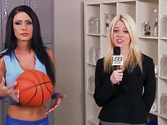 Post Game Climax for Brunette Basketball Star Jessica Jaymes