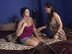 Nicki Hunter A and Olivia O'Lovely play lesbian games in the bedroom