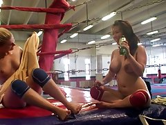 Catfight: Big Titty Brunette Vs Small Titty Blonde