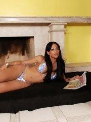 Hot Latina nailing her husband and a sexy tranny slut both