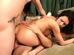 Horny bride deeply penetrated in every hole
